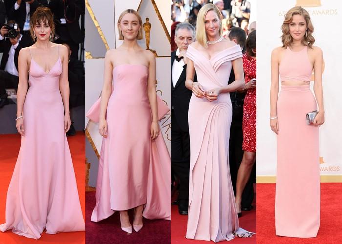 Пастельно-розовые вечерние платья: 15 звёздных нарядов - фото