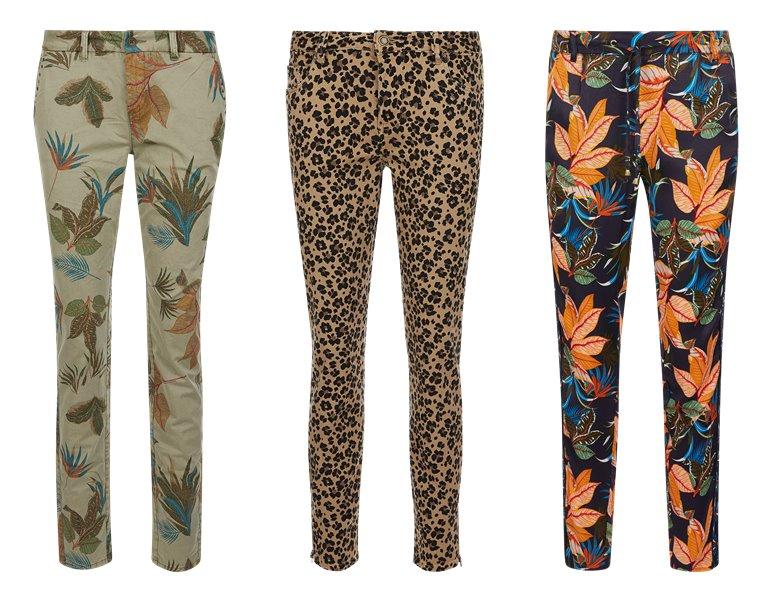 Женские брюки с цветочным принтом s'Oliver весна-лето 2019 - фото