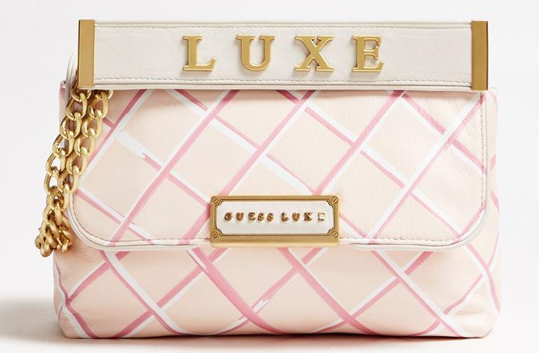 Стёганая сумка Cherie Guess Luxe – яркая новинка 2019 из телячьей кожи - фото 1