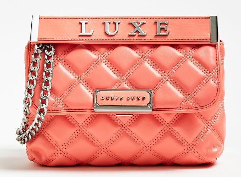 Стёганая сумка Cherie Guess Luxe – яркая новинка 2019 из телячьей кожи - фото 4