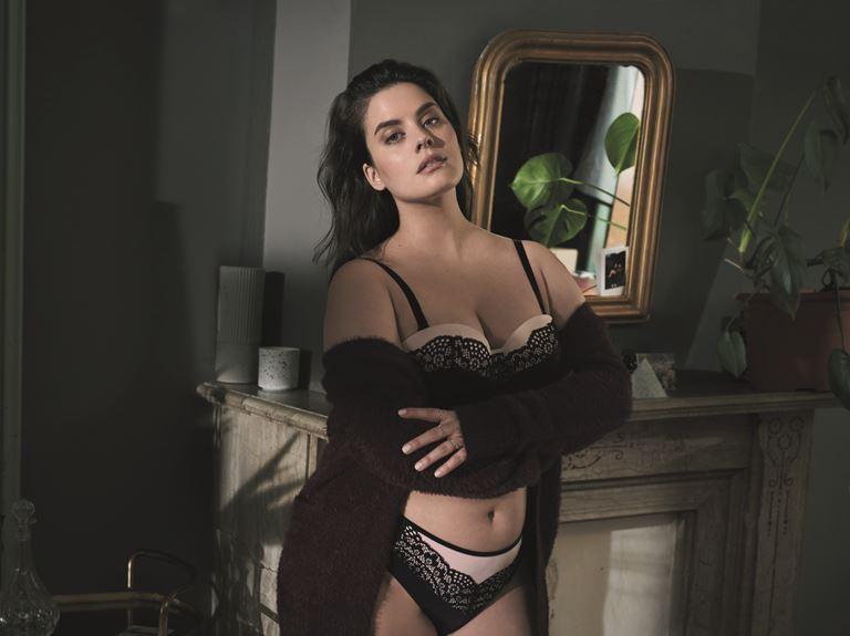 Модель plus size Даниэль ван Грондель в рекламной кампании нижнего белья Hunkemöller - фото 2