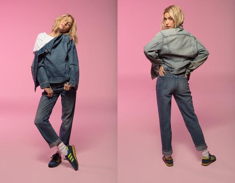 Хейли Бибер в культовых джинсах в рекламной кампании Levi's® 501® - фото 4
