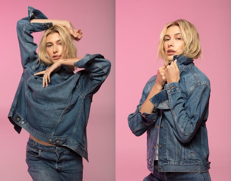 Хейли Бибер в культовых джинсах в рекламной кампании Levi's® 501® - фото 5