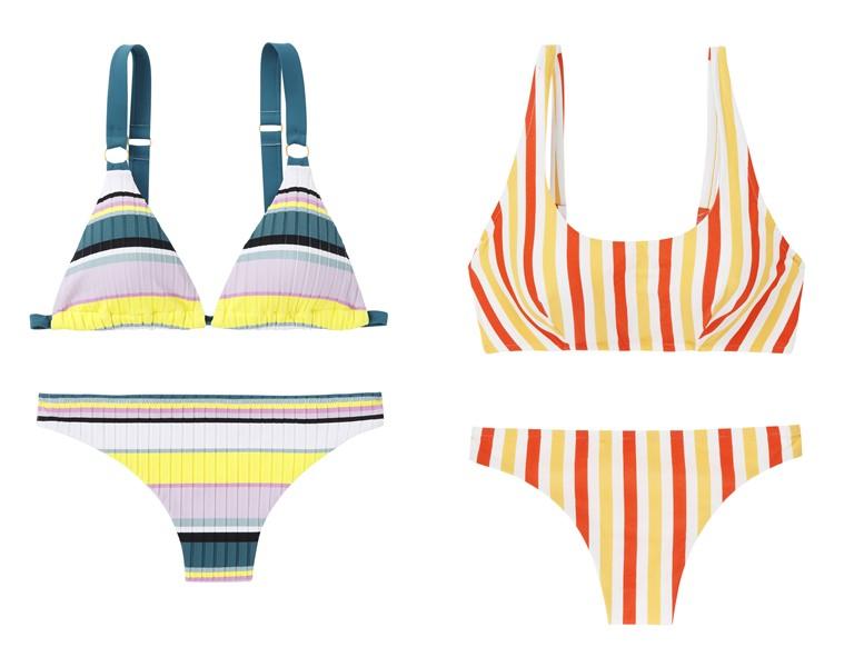 Купальники в полоску в стиле 70-х от французского бренда Etam на лето-2019 - фото 3