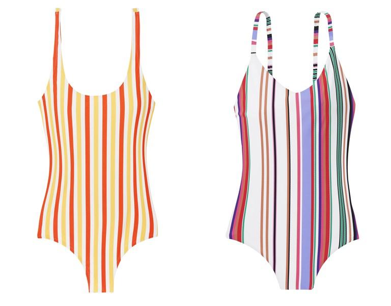 Купальники в полоску в стиле 70-х от французского бренда Etam на лето-2019 - фото 4