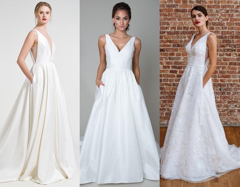 Новые и необычные тенденции свадебной моды 2019 - Платья с карманами