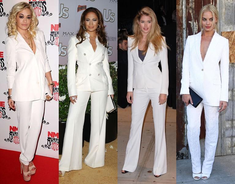 Новые и необычные тенденции свадебной моды 2019 - Белые брючные костюмы
