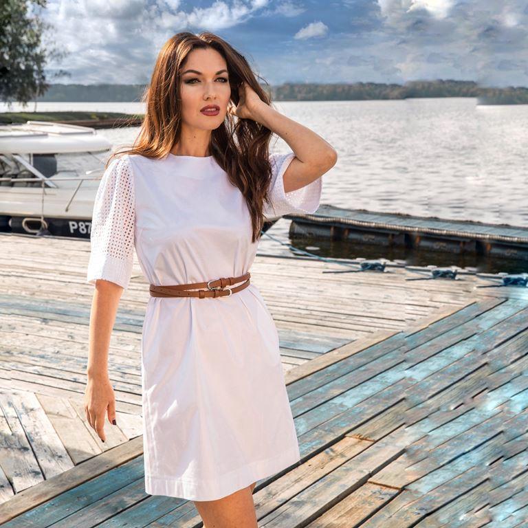 Фотосессия Юлии Такшиной в коллекции Villagi лето-2019 на яхте в Подмосковье - фото 10