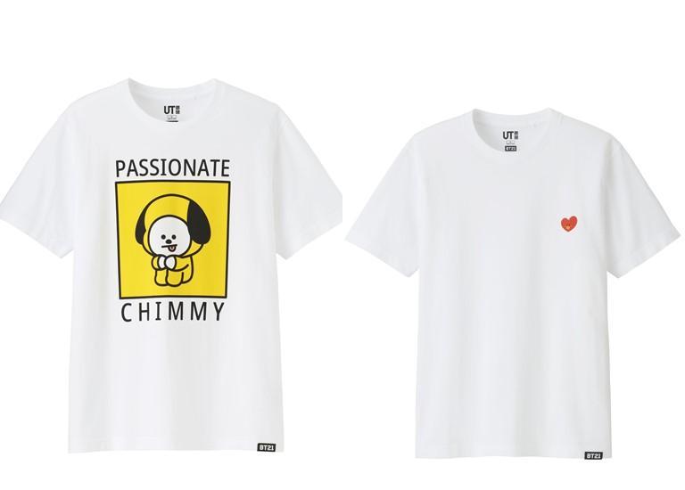 Коллекция футболок UNIQLO с изображениями персонажей BT21 - фото 3