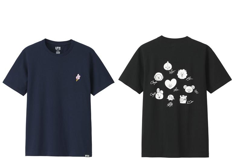 Коллекция футболок UNIQLO с изображениями персонажей BT21 - фото 4