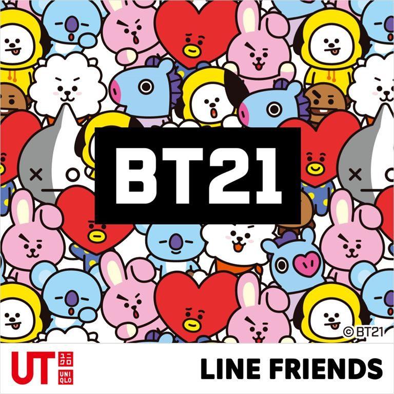 Коллекция футболок UNIQLO с изображениями персонажей BT21