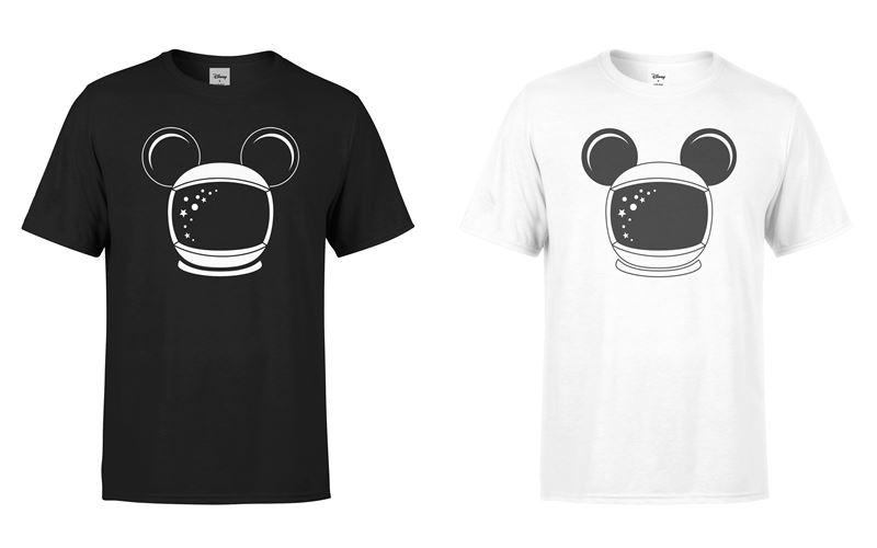 Минималистичные чёрные и белые футболки с Микки Маусом-космонавтом от Disney x YOOX - фото 1