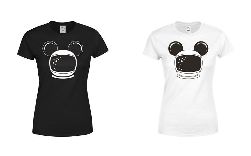 Минималистичные чёрные и белые футболки с Микки Маусом-космонавтом от Disney x YOOX - фото 2