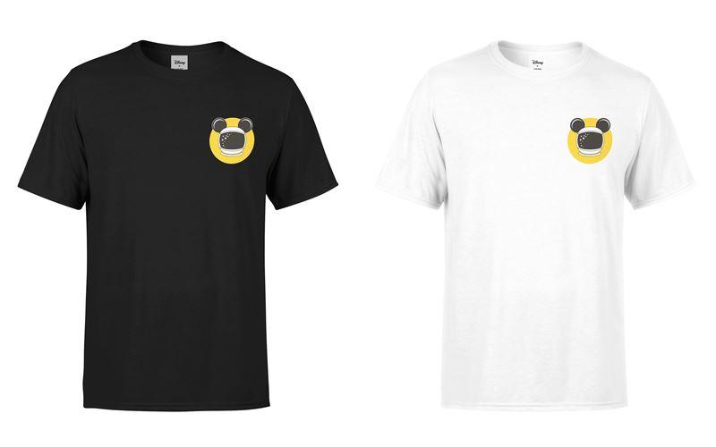 Минималистичные чёрные и белые футболки с Микки Маусом-космонавтом от Disney x YOOX - фото 4