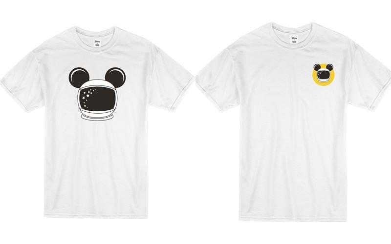 Минималистичные чёрные и белые футболки с Микки Маусом-космонавтом от Disney x YOOX - фото 5