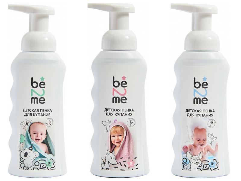Косметика для малышей: что должно быть в детской косметичке - Пенка для купания Be2Me