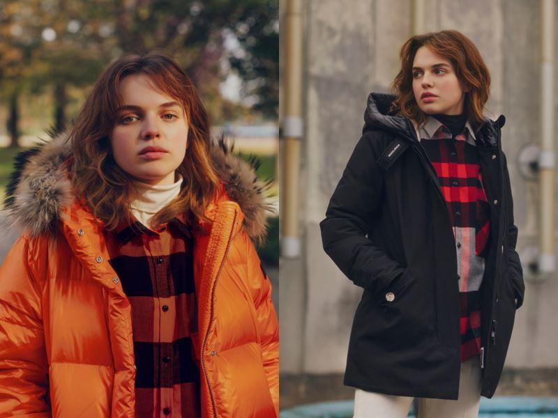 Хиро Файнс-Тиффин и Одесса Янг в лукбуке коллекции Woolrich осень-зима 2019-2020 - фото 2