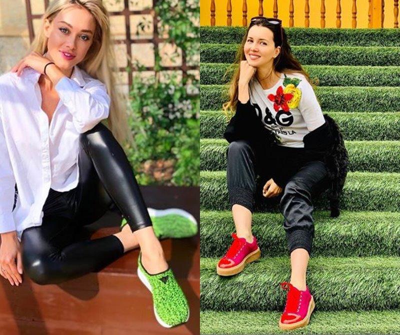 Звездное лето без каблуков: российские звезды в спортивной обуви Jog Dog - Юлия Франц и Алеса Качер