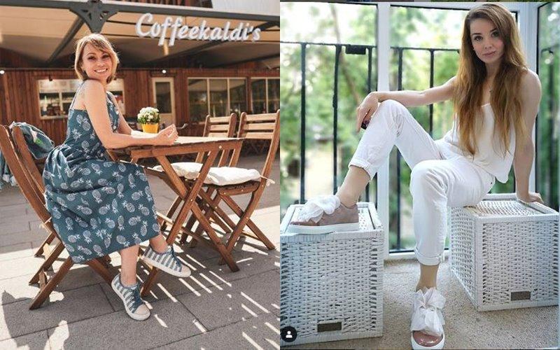 Звездное лето без каблуков: российские звезды в спортивной обуви Jog Dog - Алиса Селезнева и Евгения Образцова