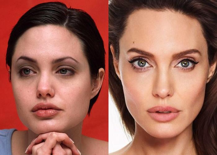 Как похудение меняет лицо: 10 звёзд со щеками и скулами - Анджелина Джоли