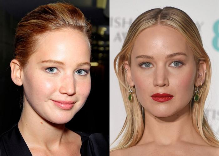 Как похудение меняет лицо: 10 звёзд со щеками и скулами - Дженнифер Лоуренс