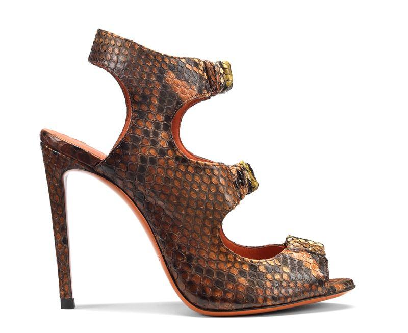 Обувь из кожи питона в коллекции Santoni осень-зима 2019-2020  - фото 4