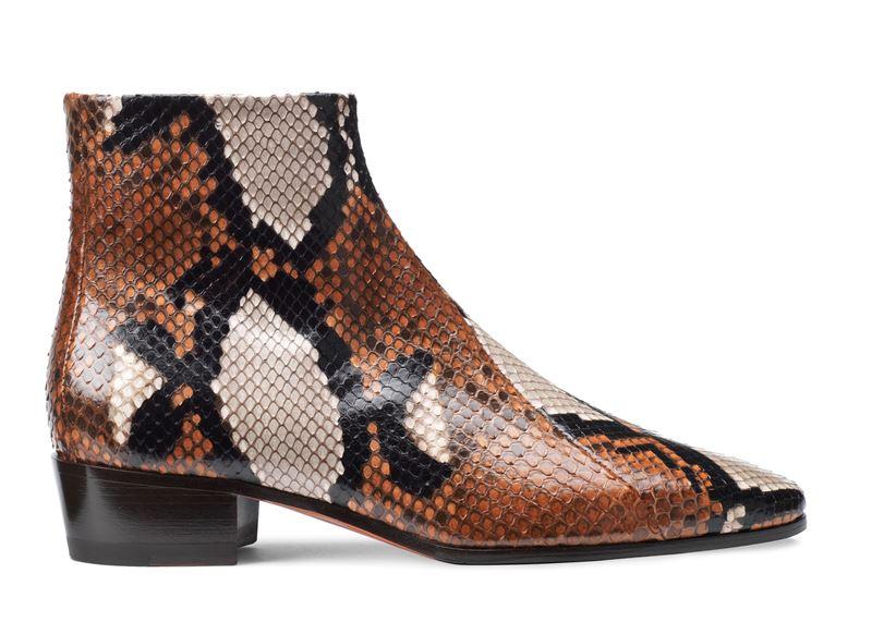 Обувь из кожи питона в коллекции Santoni осень-зима 2019-2020  - фото 7