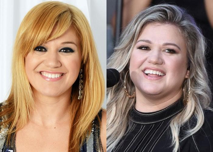 Как лишний вес меняет разные лица: 10 звёзд до и после прибавки в весе - Келли Кларксон