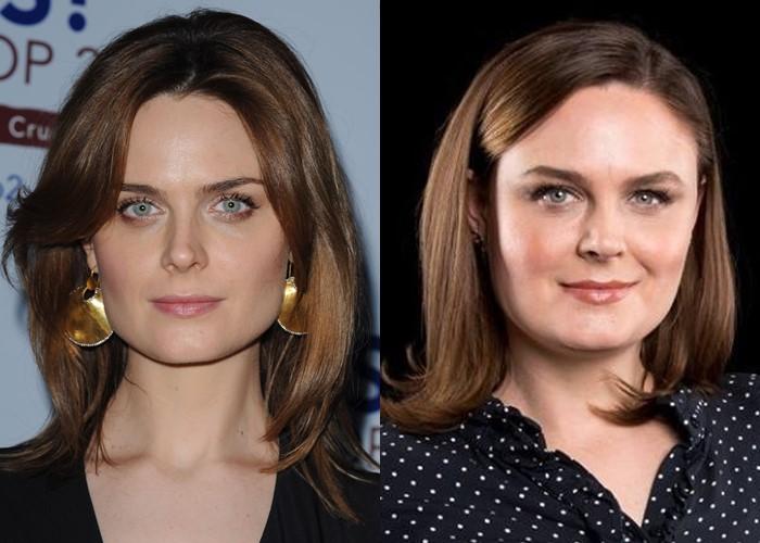 Как лишний вес меняет разные лица: 10 звёзд до и после прибавки в весе - Эмили Дешанель