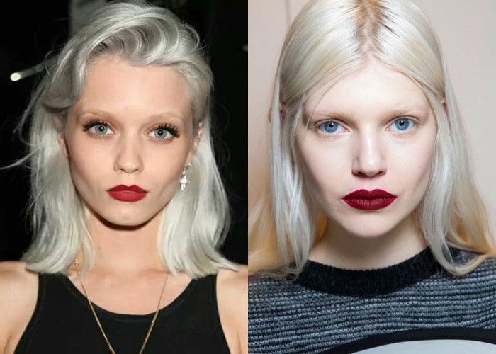 Долой татуаж: модные брови 2019-2020  - светлые брови у платиновых блондинок