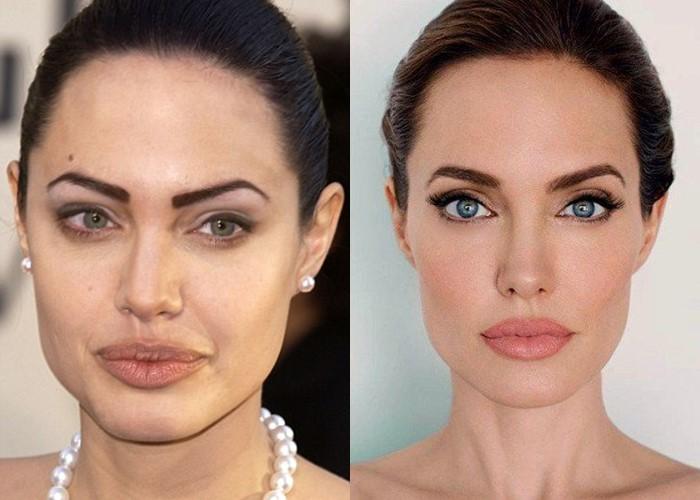 Долой татуаж: модные брови 2019-2020  - Анджелина Джоли