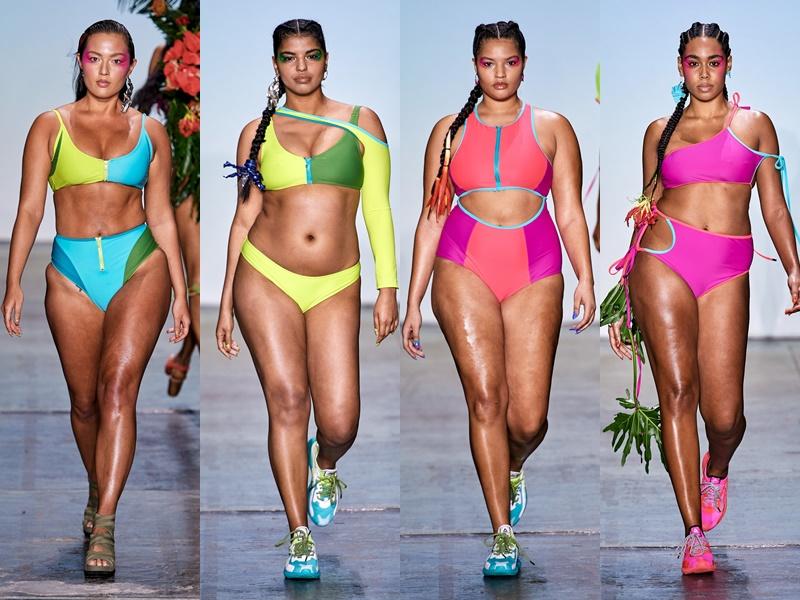 Как выглядят полные девушки-модели в купальниках - фото 7