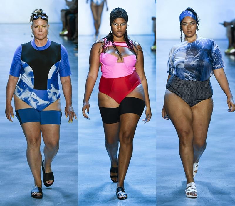 Как выглядят полные девушки-модели в купальниках - фото 11