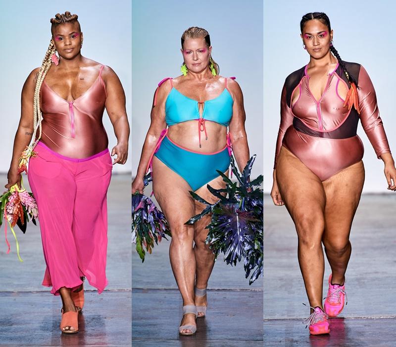 Как выглядят полные девушки-модели в купальниках - фото 10