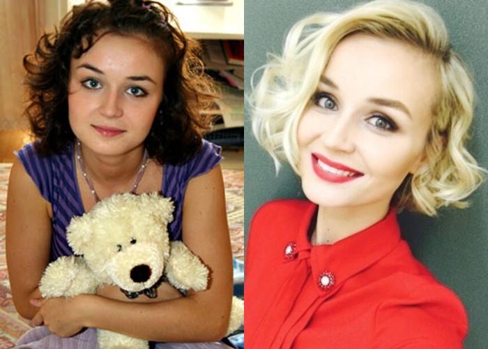 Российские звезды ставшие блондинками из брюнеток и шатенок - Полина Гагарина
