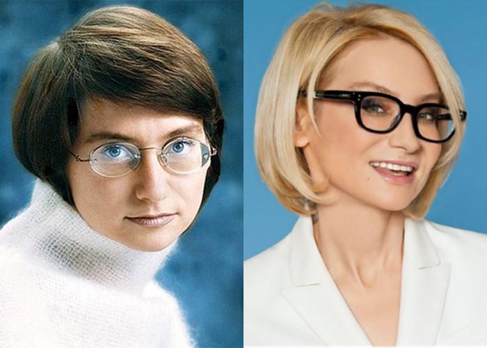 Российские звезды ставшие блондинками из брюнеток и шатенок - Эвелина Хромченко