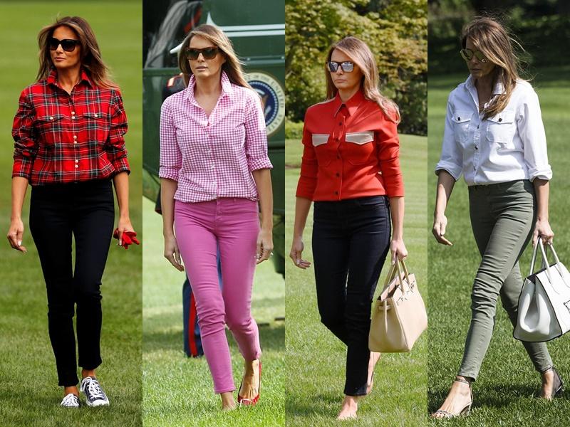 Леди Совершенство: стиль Мелании Трамп - Базовые повседневные рубашки