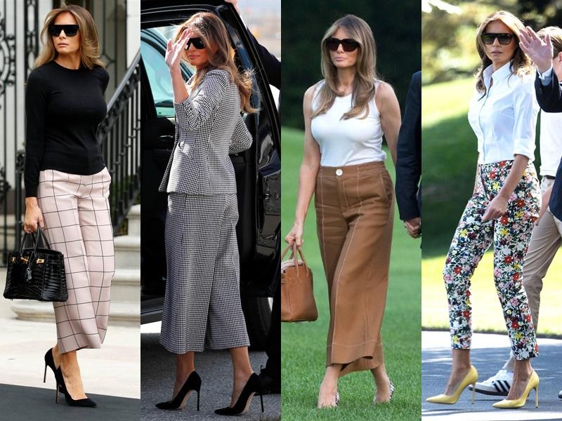 Леди Совершенство: стиль Мелании Трамп - Укороченные брюки