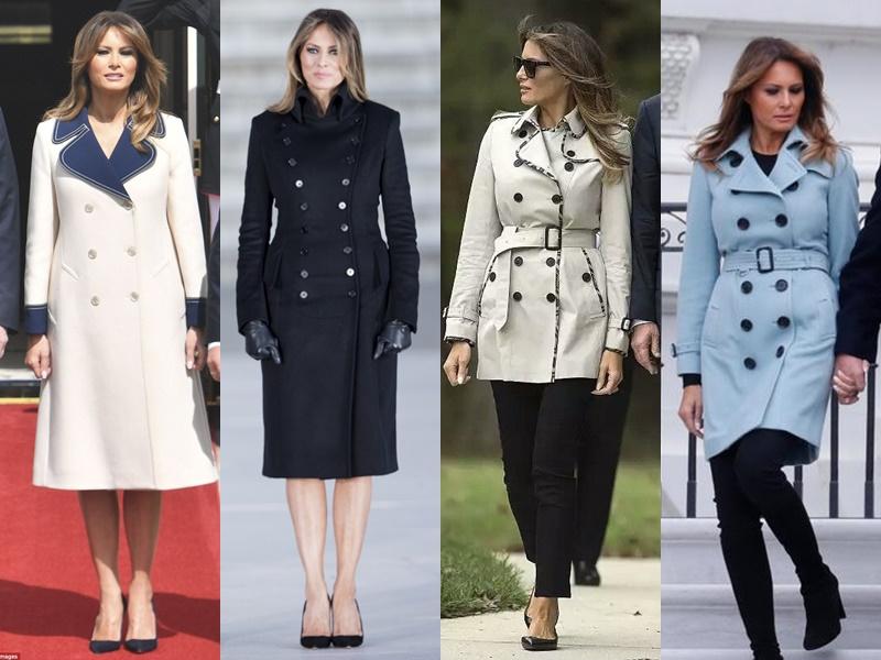 Леди Совершенство: стиль Мелании Трамп - Двубортные пальто и плащи