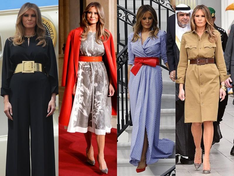 Леди Совершенство: стиль Мелании Трамп - Ремни и пояса