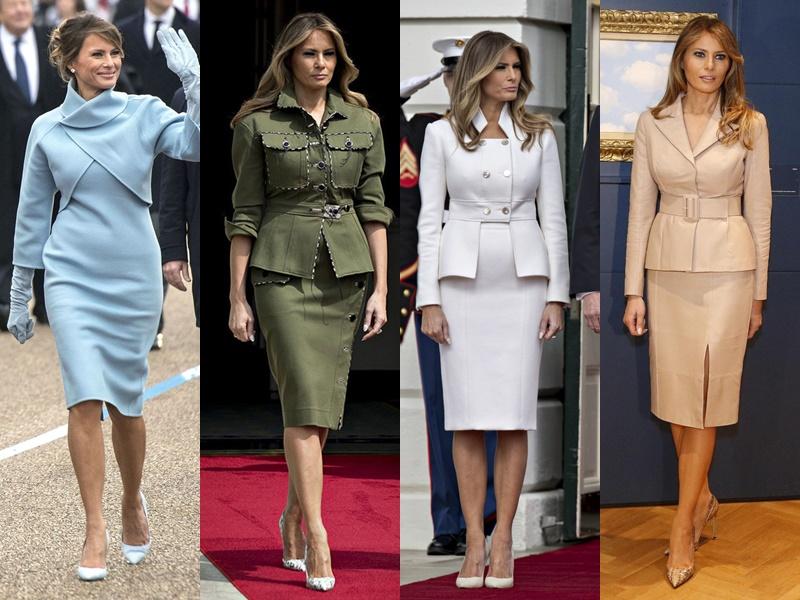 Леди Совершенство: стиль Мелании Трамп - Стильные костюмы с юбкой