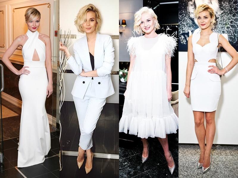Звёздный стиль: какие цвета в одежде носит Полина Гагарина - Белый