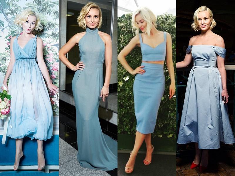 Звёздный стиль: какие цвета в одежде носит Полина Гагарина - Светло-голубой