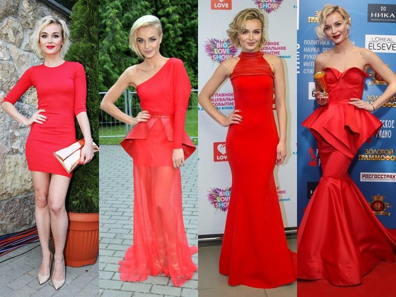 Звёздный стиль: какие цвета в одежде носит Полина Гагарина - Классический красный