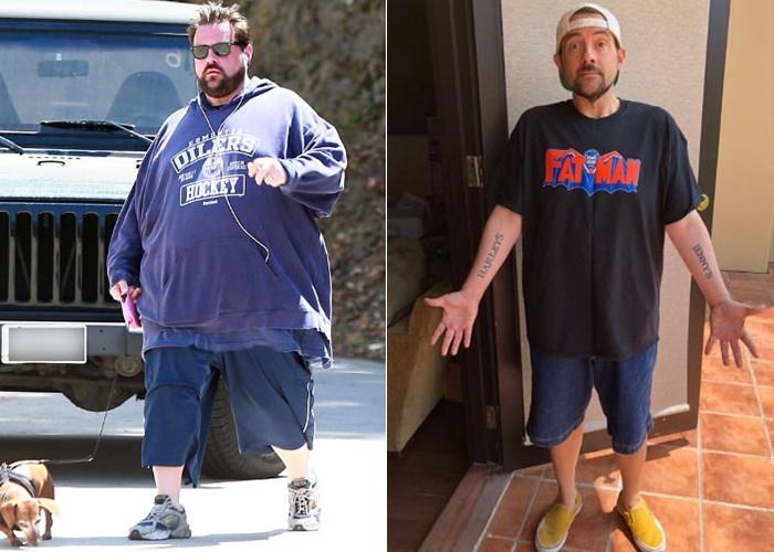 10 знаменитых мужчин, которые сильно похудели - Кевин Смит