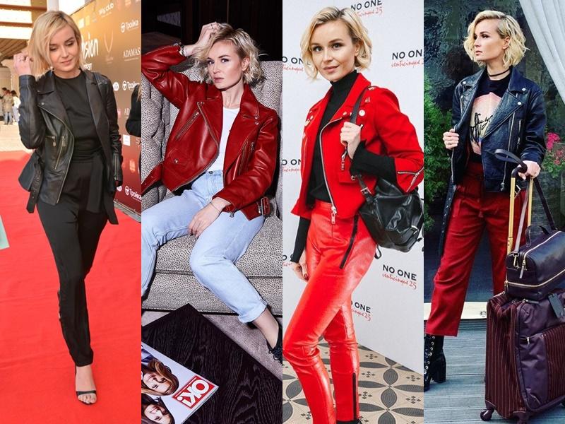 Дерзкая девчонка: звёздный стиль Полины Гагариной - Куртка-косуха