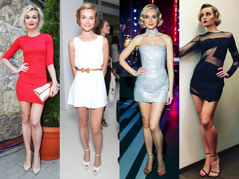 Дерзкая девчонка: звёздный стиль Полины Гагариной - Мини-платья