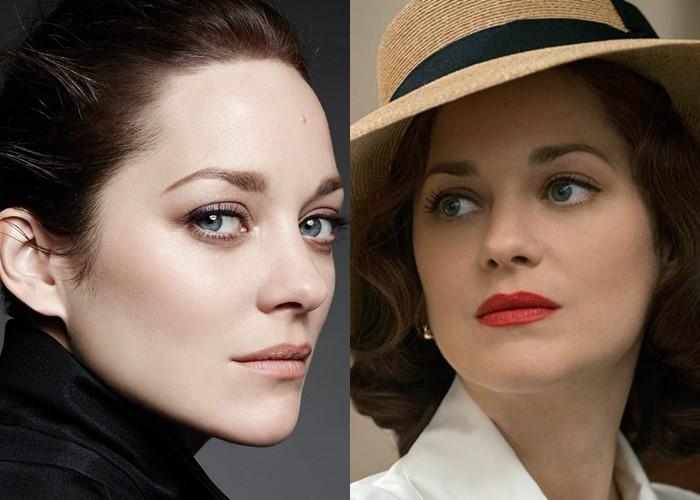 12 знаменитых женщин с красивыми серо-голубыми глазами - Марион Котийяр