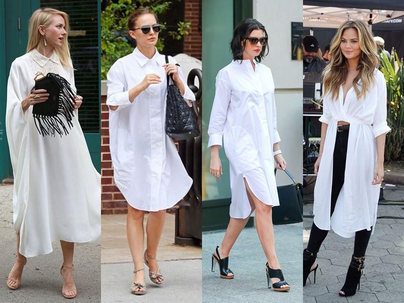 Как звёзды носят белую рубашку - Платье-рубашка