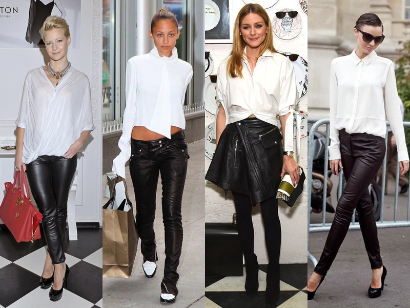 Как звёзды носят белую рубашку - Кожаные брюки